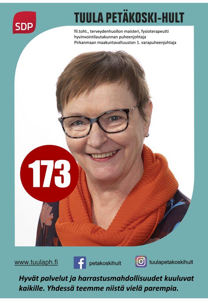 Tuula Petäkoski-Hult 173, Sdp Lempäälä